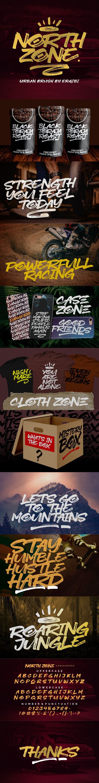 NORTH ZONE. - Graffiti Fonts