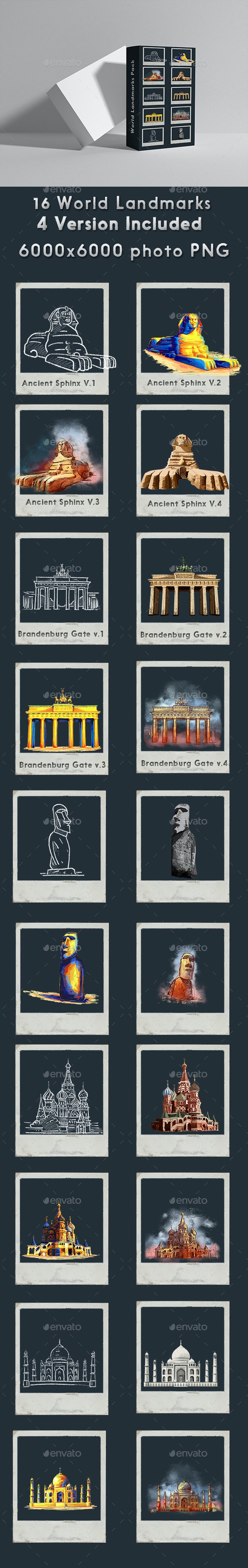 World Landmarks - Miscellaneous Graphics