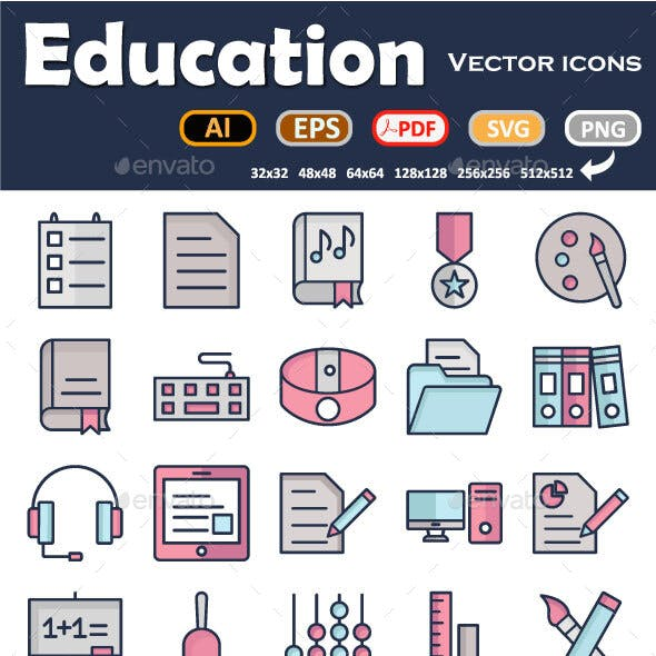 Education Icons Pack