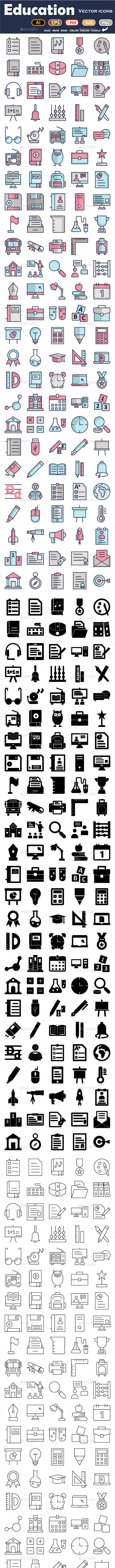 Education Icons Pack - Icons