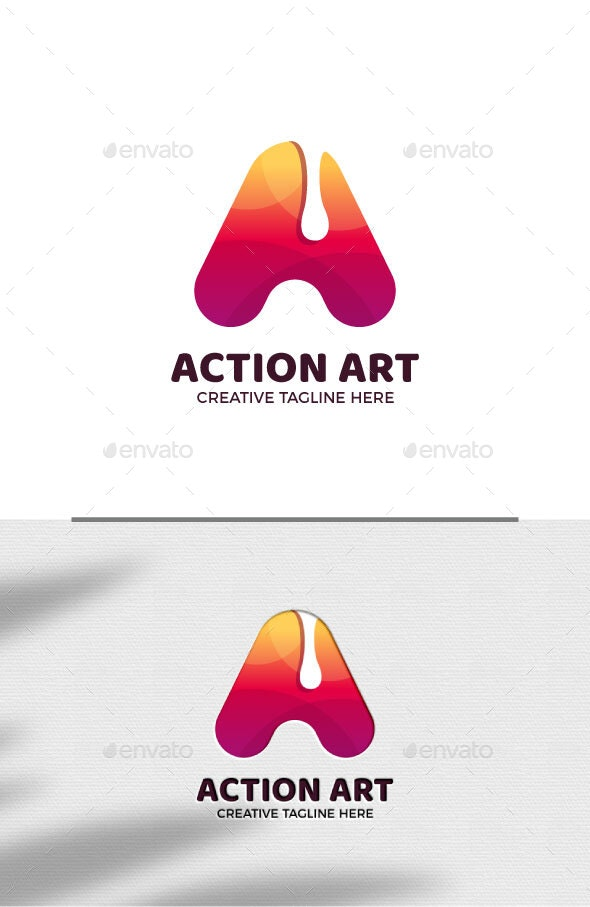 Abstract Letter A Gradient Logo Template - Letters Logo Templates
