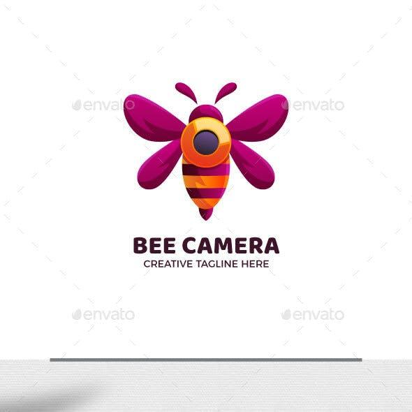 Bee Camera Gradient Logo Template