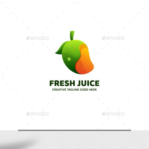 Healthy Juice Gradient logo Template