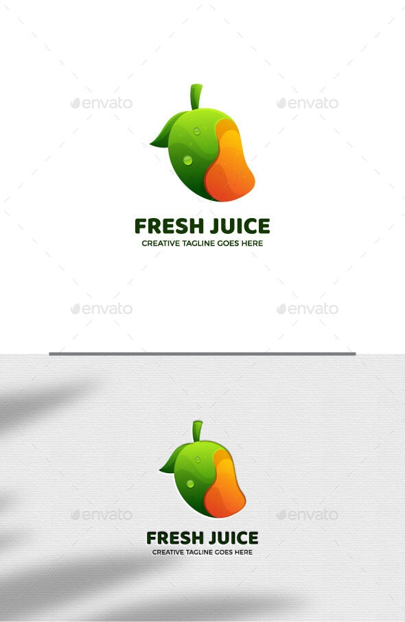 Healthy Juice Gradient logo Template - Food Logo Templates