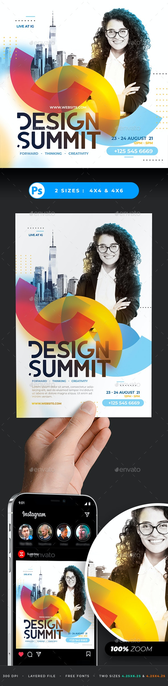 Design Conference Flyer - Corporate Flyers