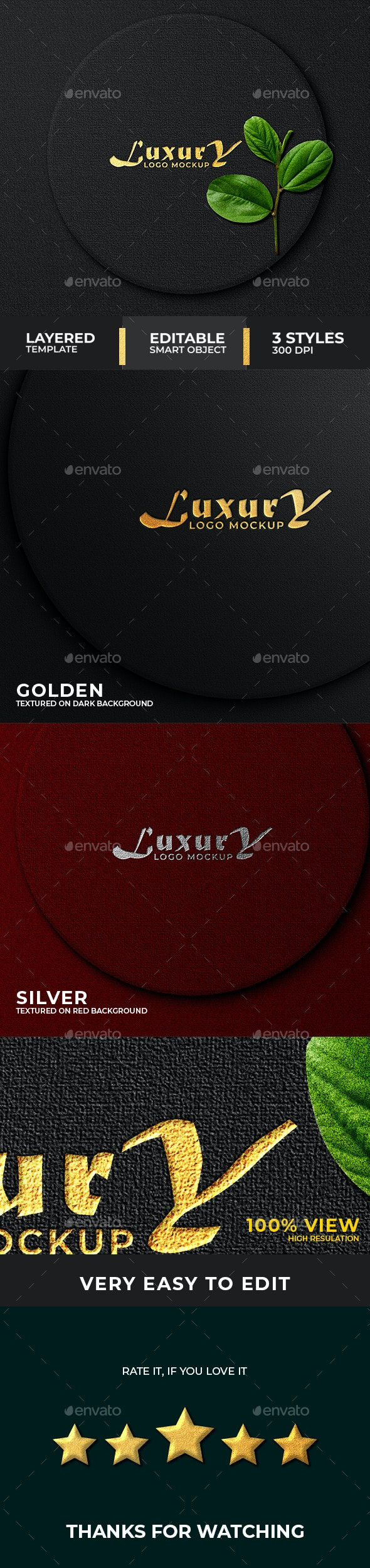 Luxury dark Logo mockup - Logo Product Mock-Ups