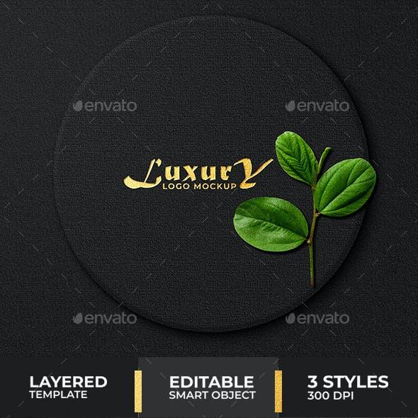 Luxury dark Logo mockup