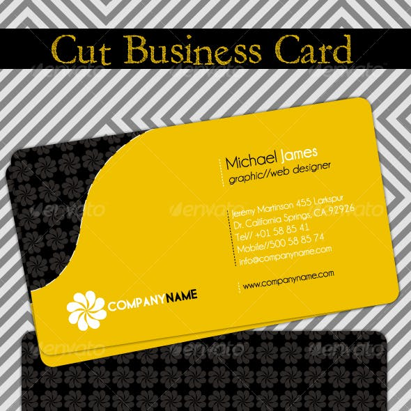 Cut Business Card