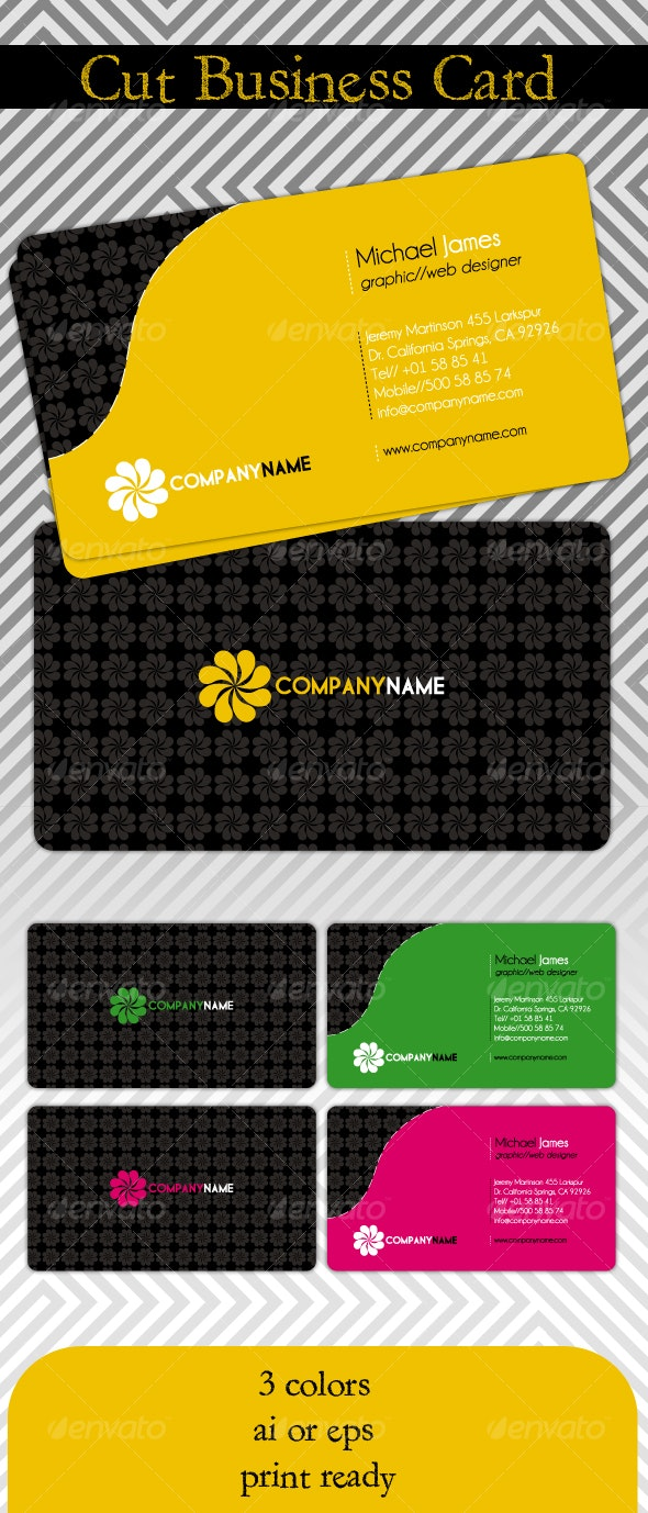 Cut Business Card - Creative Business Cards