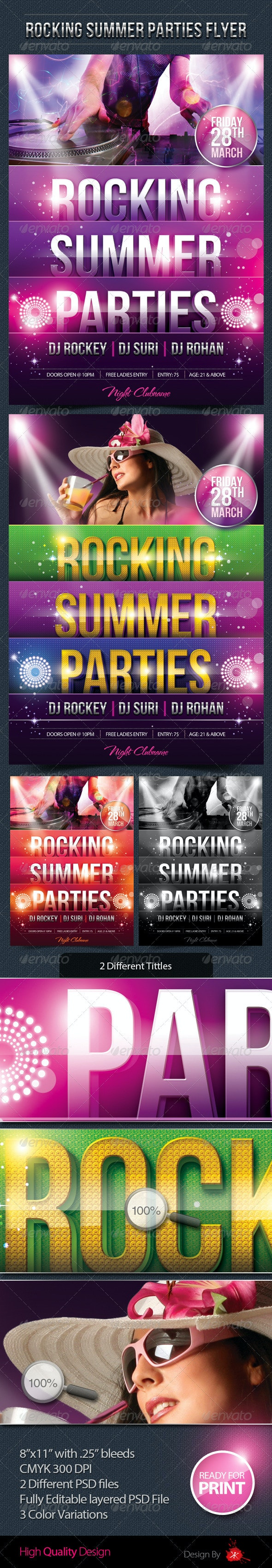 Summer Party Flyer - Print Templates