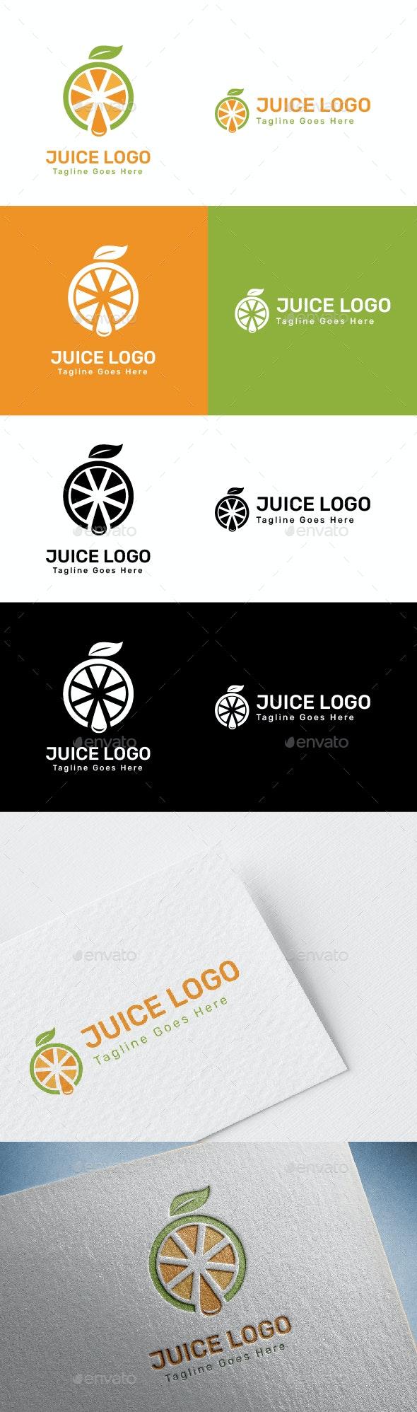 Juice Logo - Food Logo - Food Logo Templates