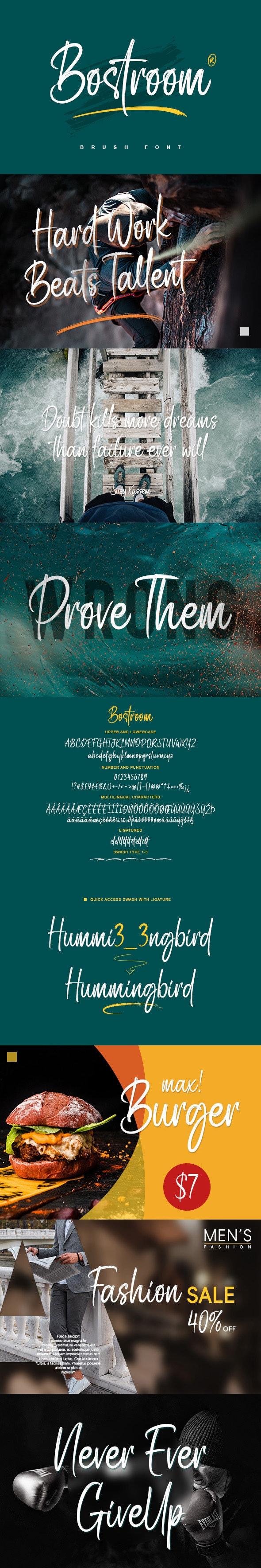 Bostroom - Handwriting Fonts