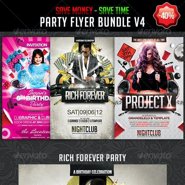 Party Flyer Bundle V4 by Grandelelo