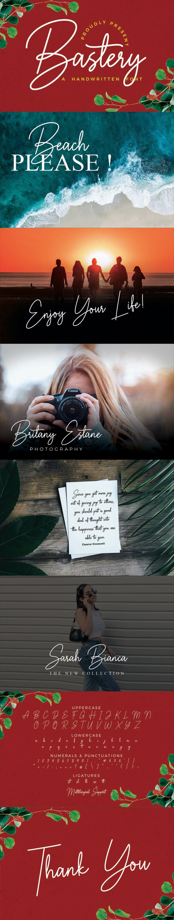 Bastery - Handwriting Fonts