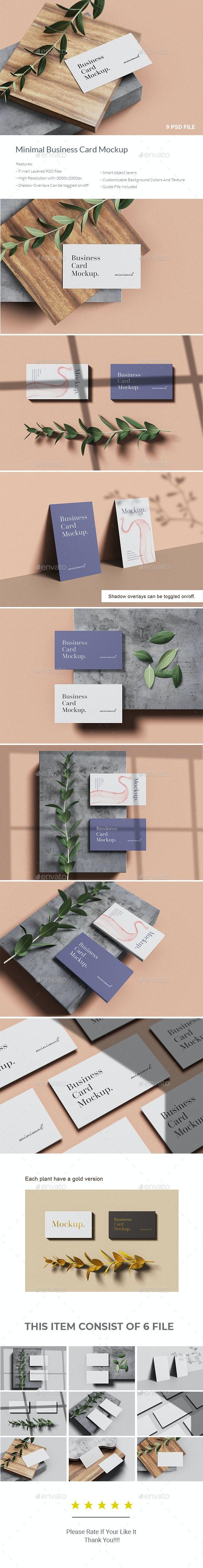 Minimal Business Card Mockup - Business Cards Print