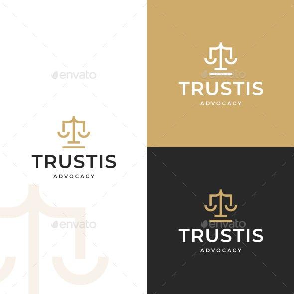 Justice T Letter Logo