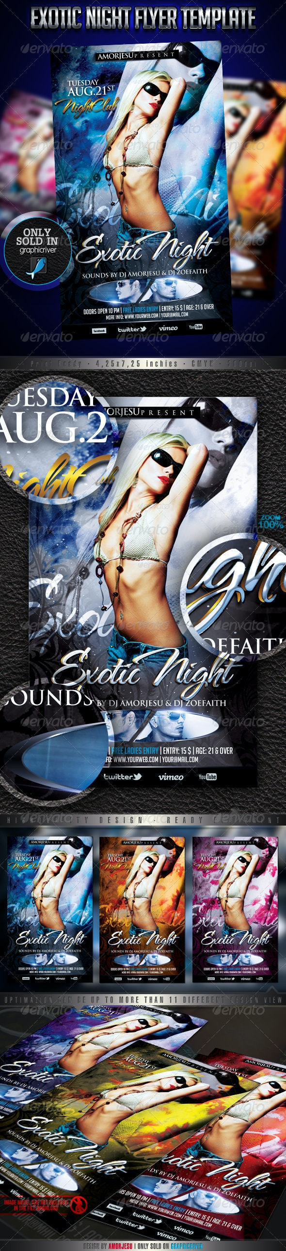 Exotic Night Flyer Template - Events Flyers
