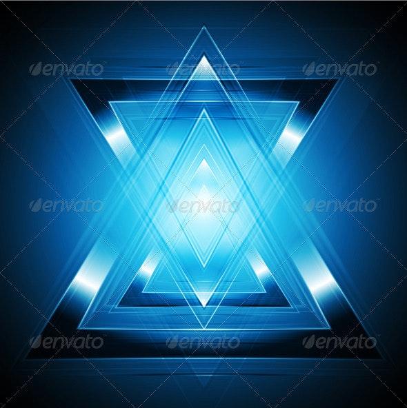 Tech blue backdrop - Backgrounds Decorative