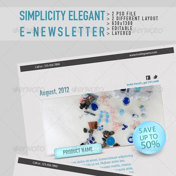 Simplicity Elegant E-Newsletter