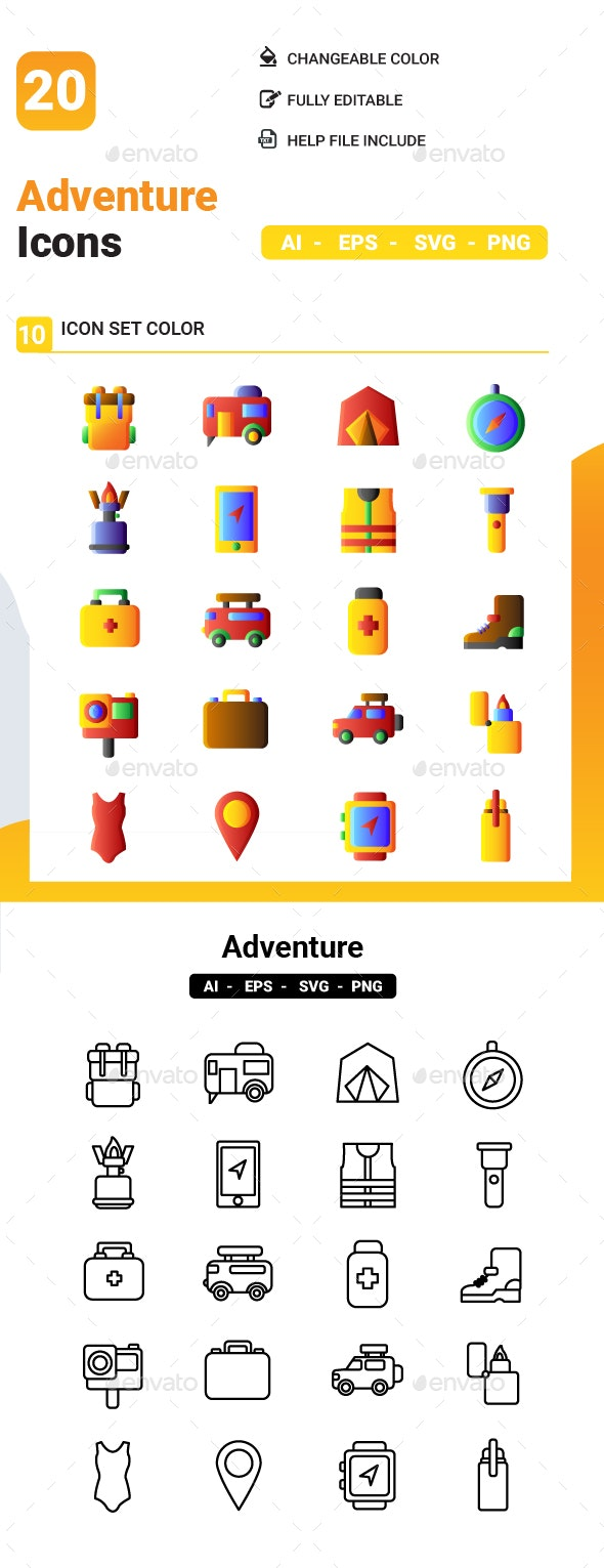 Adventure Icon  Pack - Icons