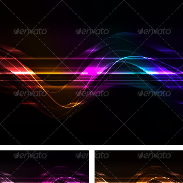 abstract background with glowing line