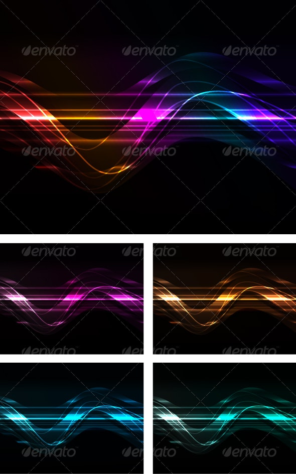 abstract background with glowing line - Web Technology