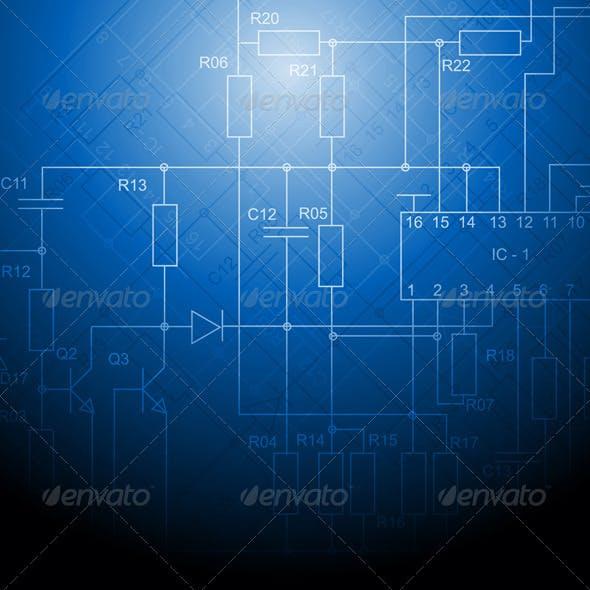 Electrical scheme backdrop
