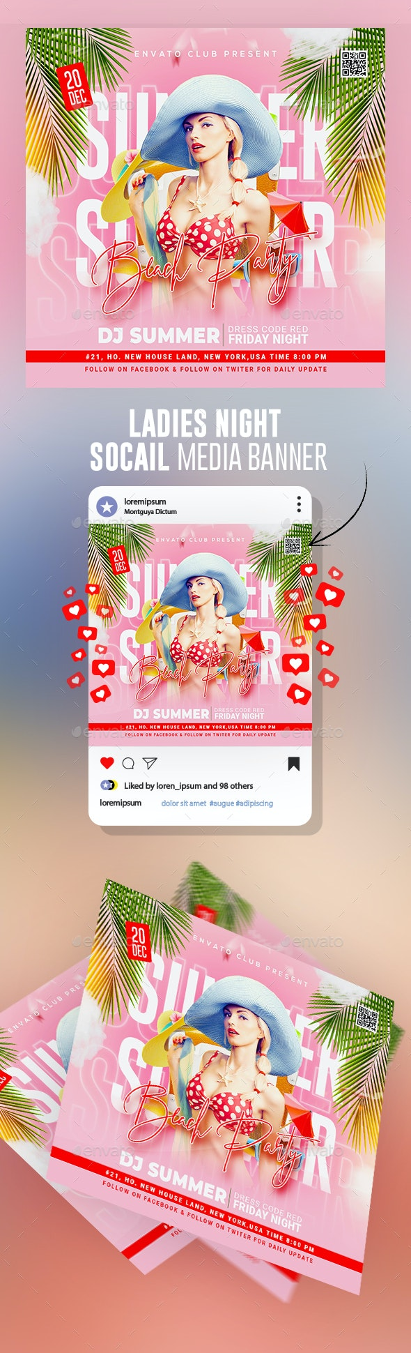 Summer Flyer - Banners & Ads Web Elements