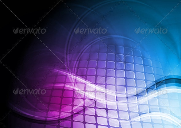 Abstract hi-tech illustration - Backgrounds Decorative