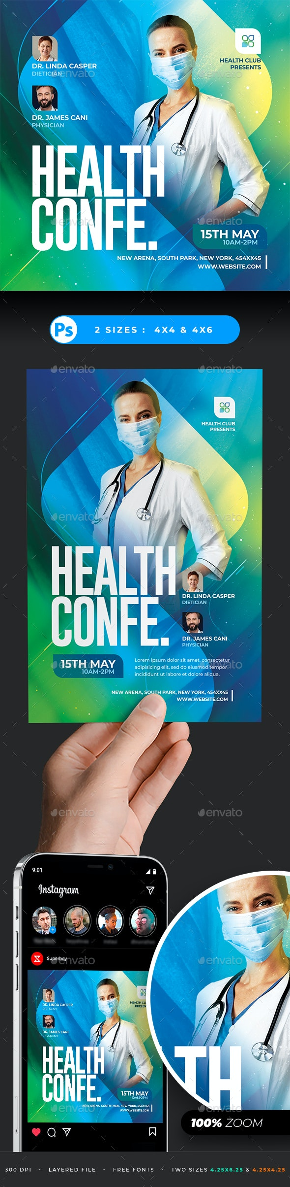 Health Conference Flyer - Events Flyers