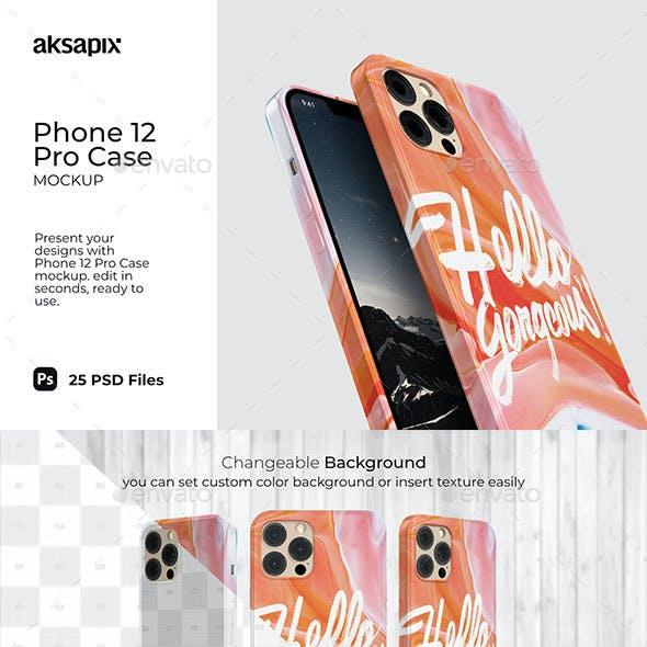 Phone 12 Pro Case Mockup