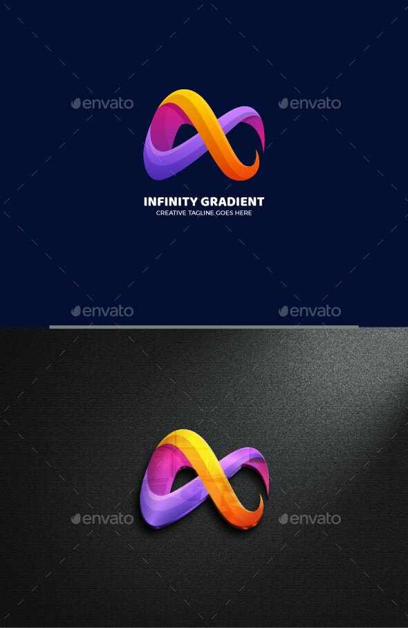 Colorful Infinity Gradient Logo Template - Abstract Logo Templates