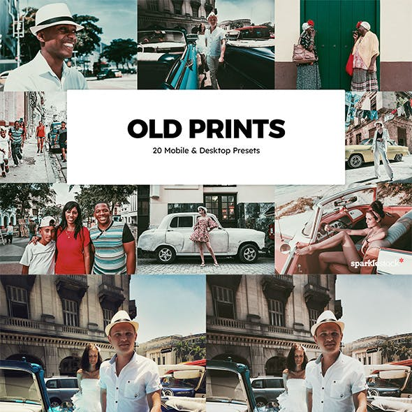 20 Old Prints Lightroom Presets & LUTs