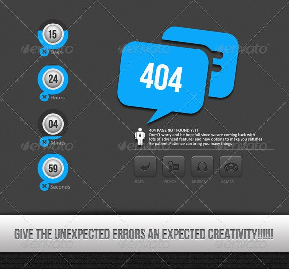 This Is An Error - 404 Pages Web Elements
