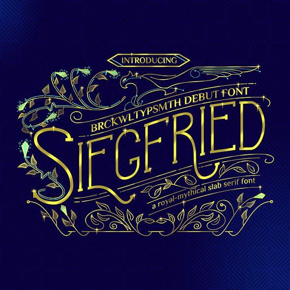 Siegfried - A Mythical Fancy Slab Serif Font