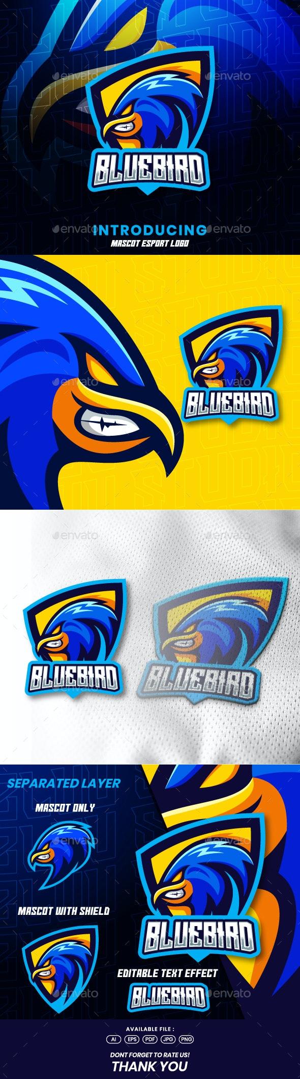Blue Bird Mascot Esport Logo - Animals Logo Templates
