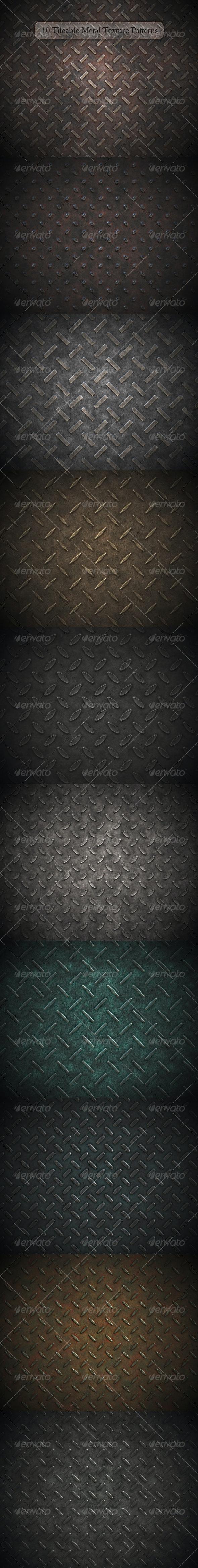 10 Tileable Metal Texture Patterns - Metal Textures