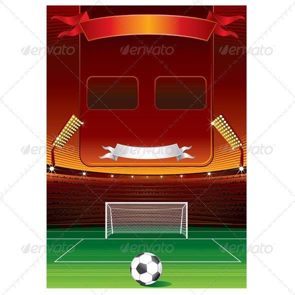 Football Scoreboard - Sports/Activity Conceptual
