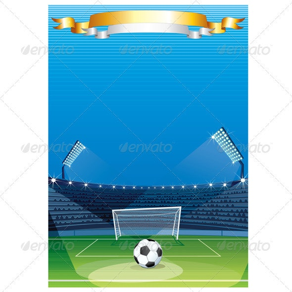 Football Sport Background - Sports/Activity Conceptual