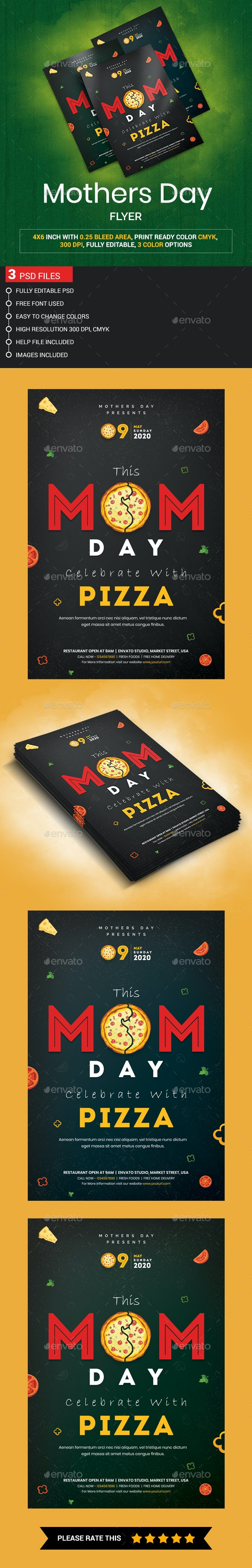 Mothers Day Flyer - Restaurant Flyers