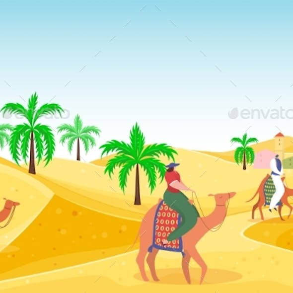 Travel Outdoor Hot Desert People Character Riding