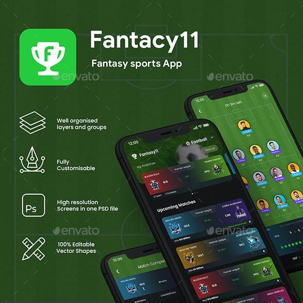 Fantacy League Contest App UI | Fantacy 11