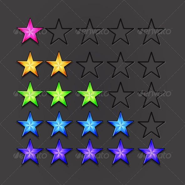 Vector Birght Rating Stars