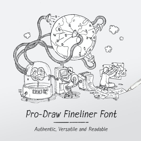 Pro-Draw Fineliner Font