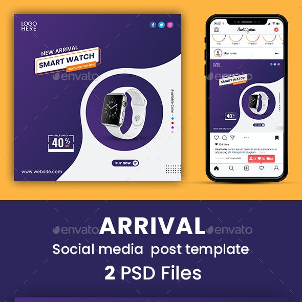 New Arrival Social Media Post Template