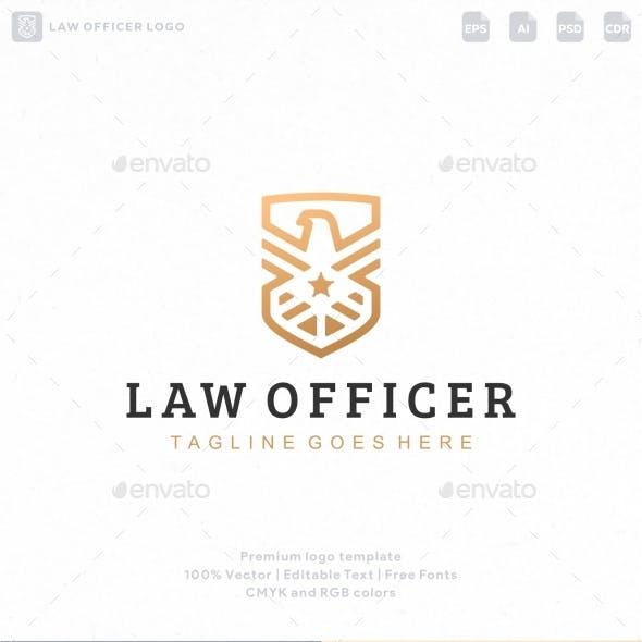 Law Officer Eagle Shield Logo
