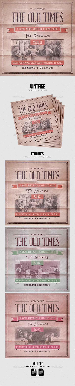 Vintage Flyer/Poster - Concerts Events