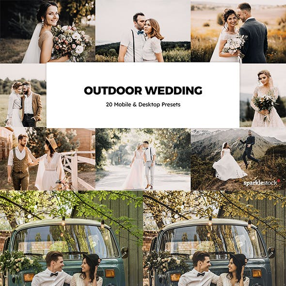 20 Outdoor Wedding Lightroom Presets & LUTs
