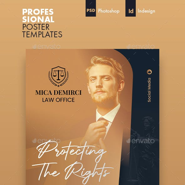 Lawyer Poster Templates