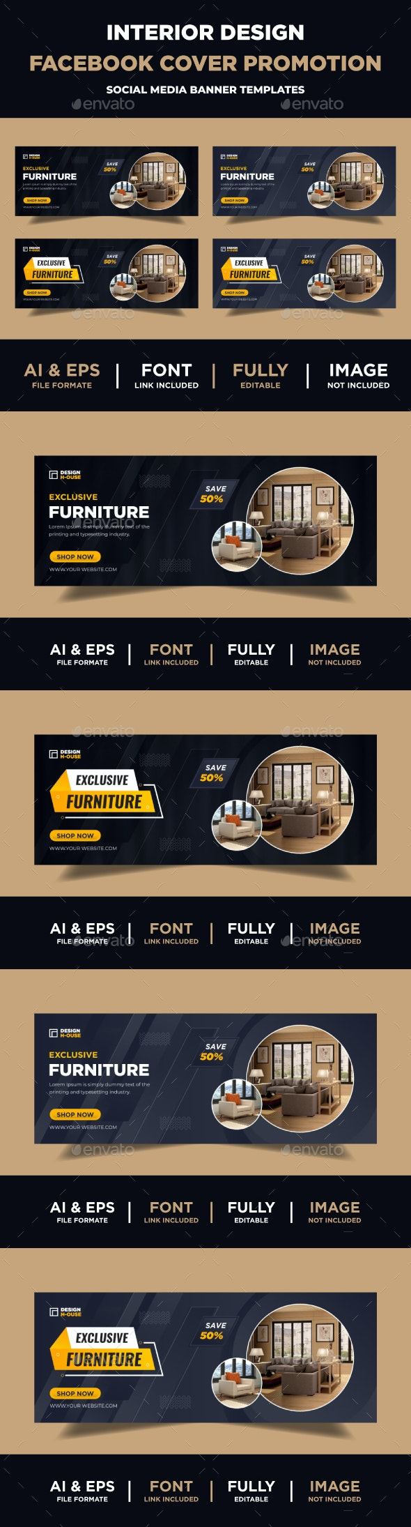 Furniture Facebook Cover Templates - Facebook Timeline Covers Social Media